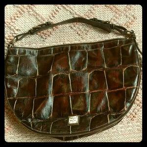 Authentic Dooney & Bourke Croco Leather Hobo Purse